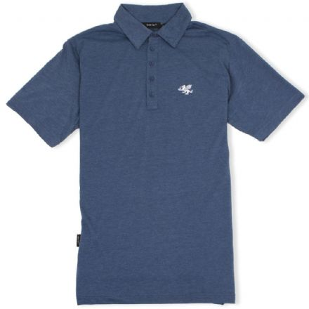 Senlak 5 Button Jersey Polo Shirt - Navy Marl